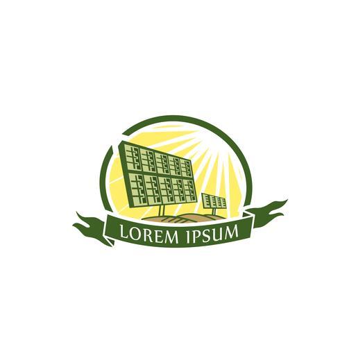 Plantilla de concepto de diseño de logotipo de energía solar