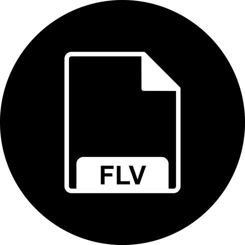 Vector icono de FLV