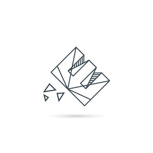 gemstone letter e logo design icon template vector element isolated