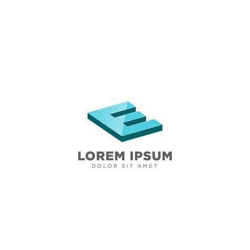 letra E logotipo design modelo ilustração vetorial para marca de negócios