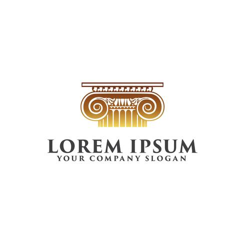 modelo de conceito de design de logotipo de lei