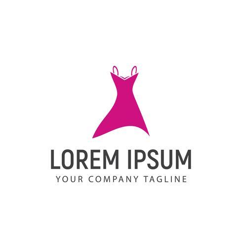 modèle de concept de conception de vêtements femmes logo
