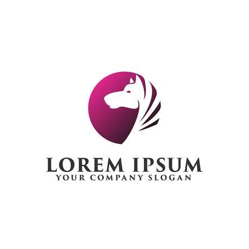 Pferd Kreis Logo Design-Konzept-Vorlage