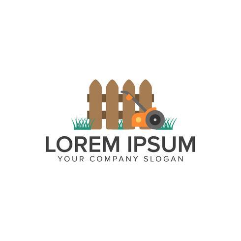 Conceito de jardinagem Modelo de conceito de design de logotipo