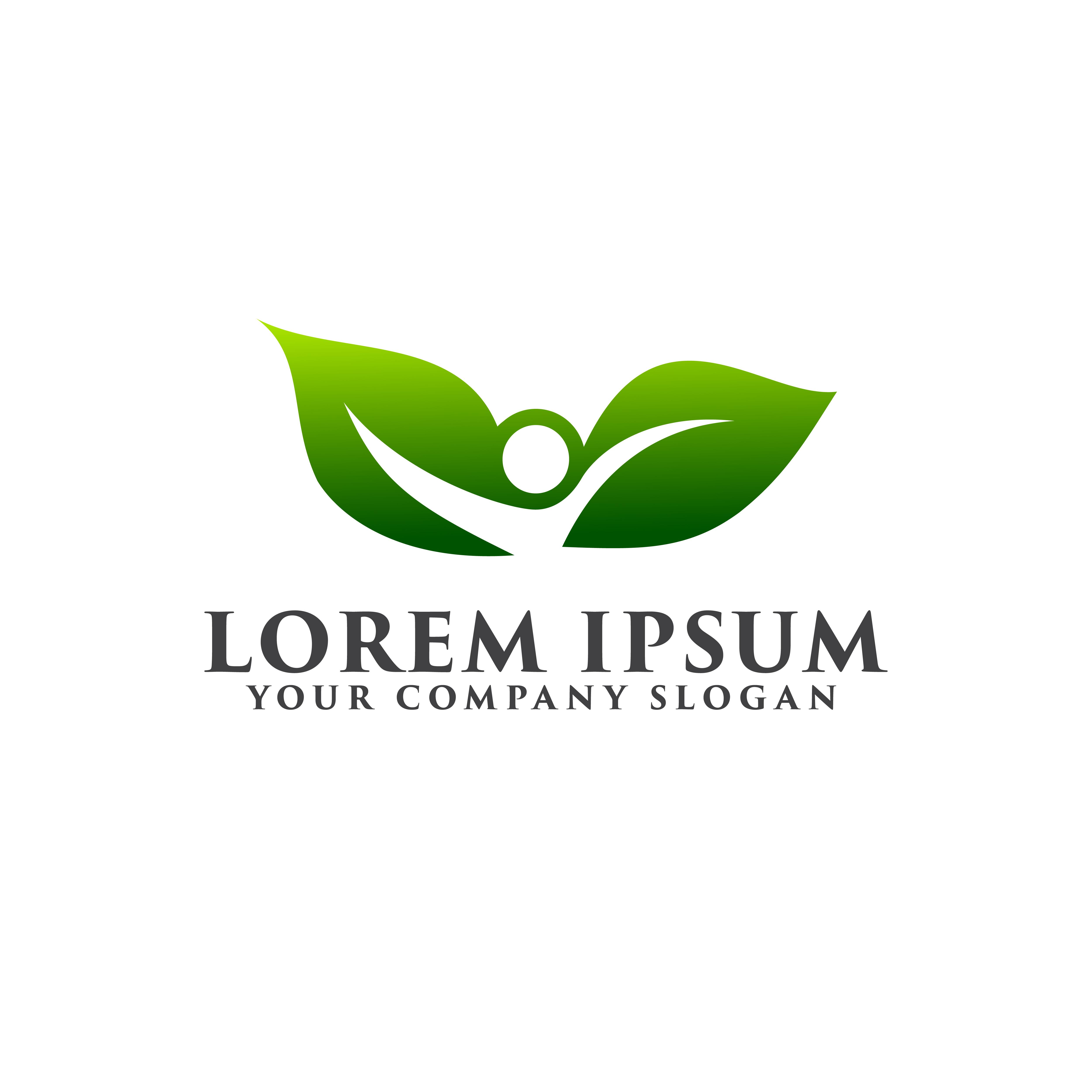 Landscaping People Logo Design Concept Template