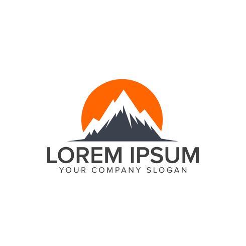 modelo de conceito de design de logotipo de montanha
