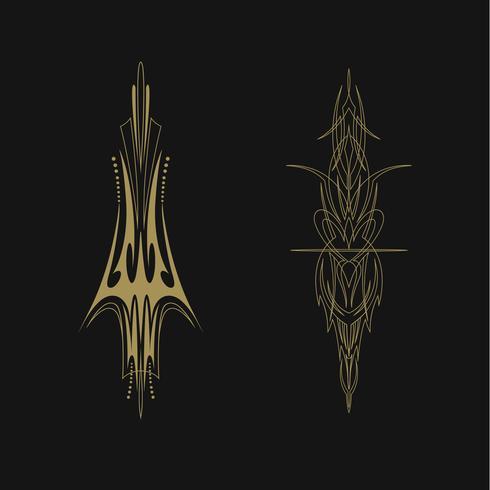 Calcomanía de vinilo decorativo vector pinstriping vehículo gráfico