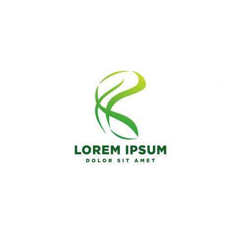 grön natur geometrisk logotyp mall vektor illustration ikon element