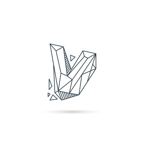 gemstone letter v logo design icon template vector element isolated