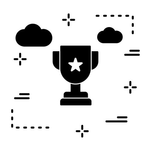Icône de trophée de vecteur