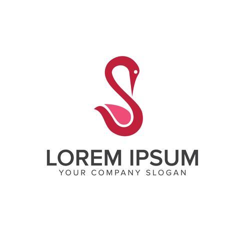 modelo de conceito de design de logotipo de cisne de beleza