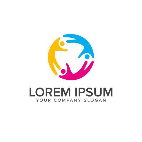 relation människor Logos. Skolutbildning logotyp designkoncept