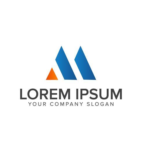 modèle de concept de conception lettre m logo