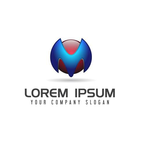 Plantilla de concepto de diseño de logotipo de tecnología de letra M
