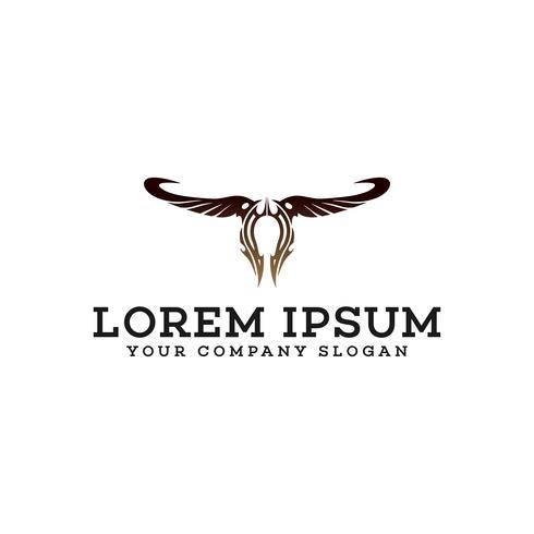 plantilla de concepto de diseño de logotipo alas abstractas