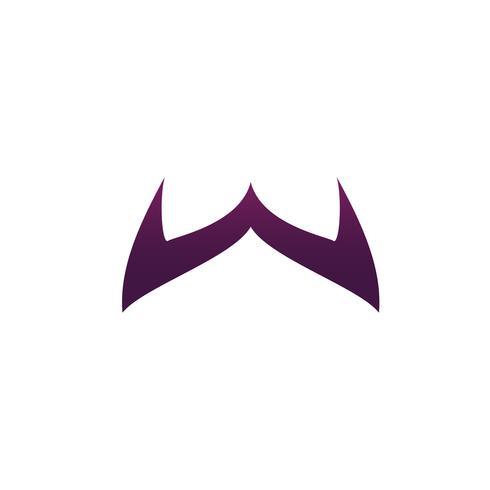 modello di concetto di disegno di lettera w logo