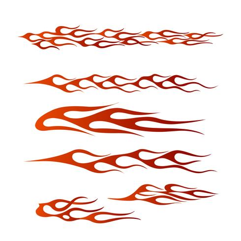 tribal fordon grafisk, flamma fordon grafisk wrap design
