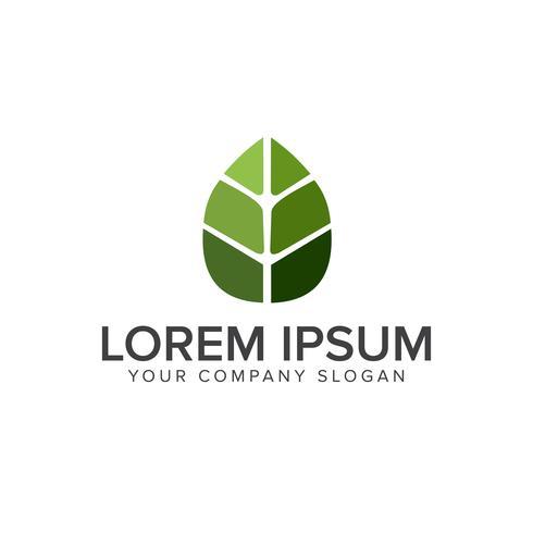 Green Leaf logo design koncept mall
