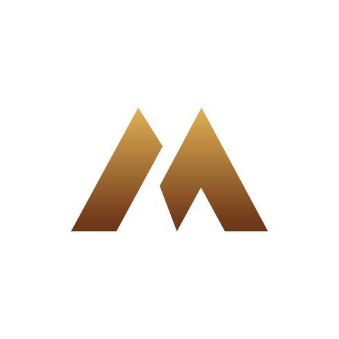 modèle de concept de design lettre luxe logo M