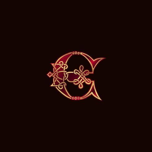 lettera di lusso E Decorazione Logo modello di concetto di design