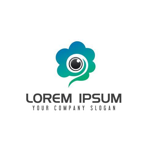 the cameras cloud logo design concept template vector