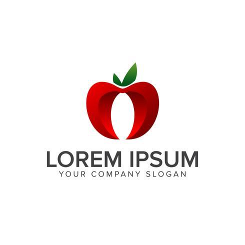 Apple-Frucht-Logo. Konzeptschablone des Entwurfs 3d
