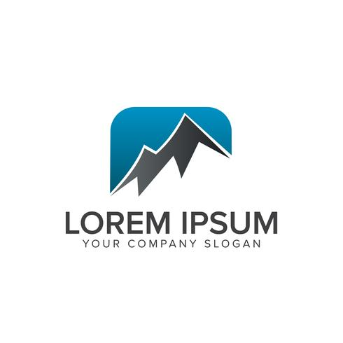 modèle de concept de design logo montagne