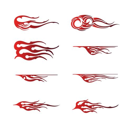 grafica tribale del veicolo, disegno dell'involucro grafico del veicolo della fiamma