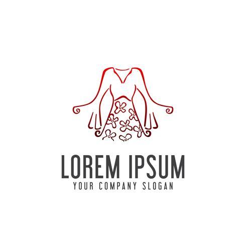 kvinna kläder logo design koncept mall