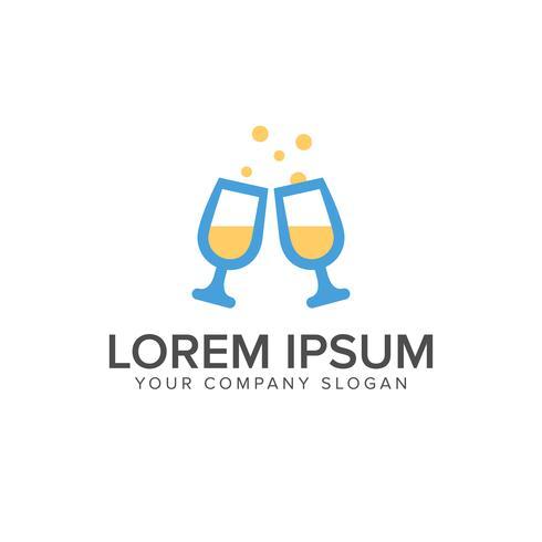 couple beer logo design concept template vector