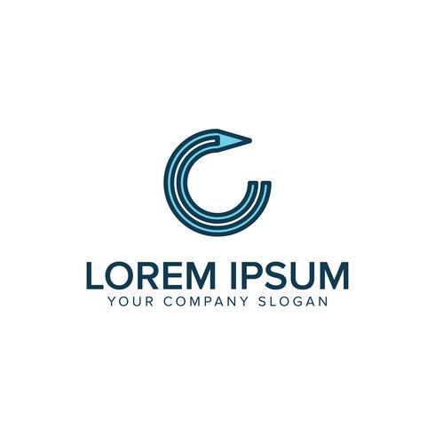 logo du stylo. modèle de conception de l'éducation Logos