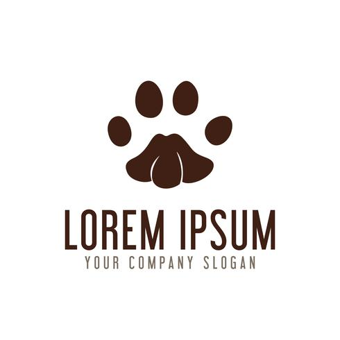 Pfoten-Logo-Design-Konzept-Vorlage