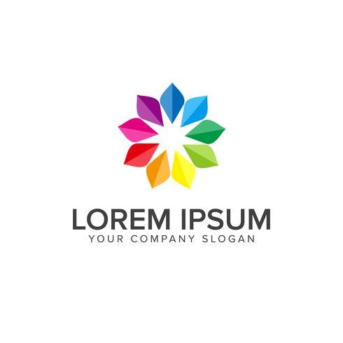 Media logo. mångfärgad designkonceptmall