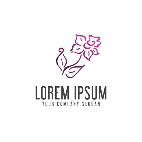 Flower logo design concept template
