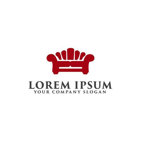 Home Furniture logo design koncept mall