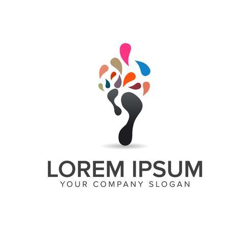 Plantilla de concepto de diseño de logo de Leg Media