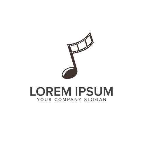 Entertainment muziek video logo ontwerpsjabloon concept vector