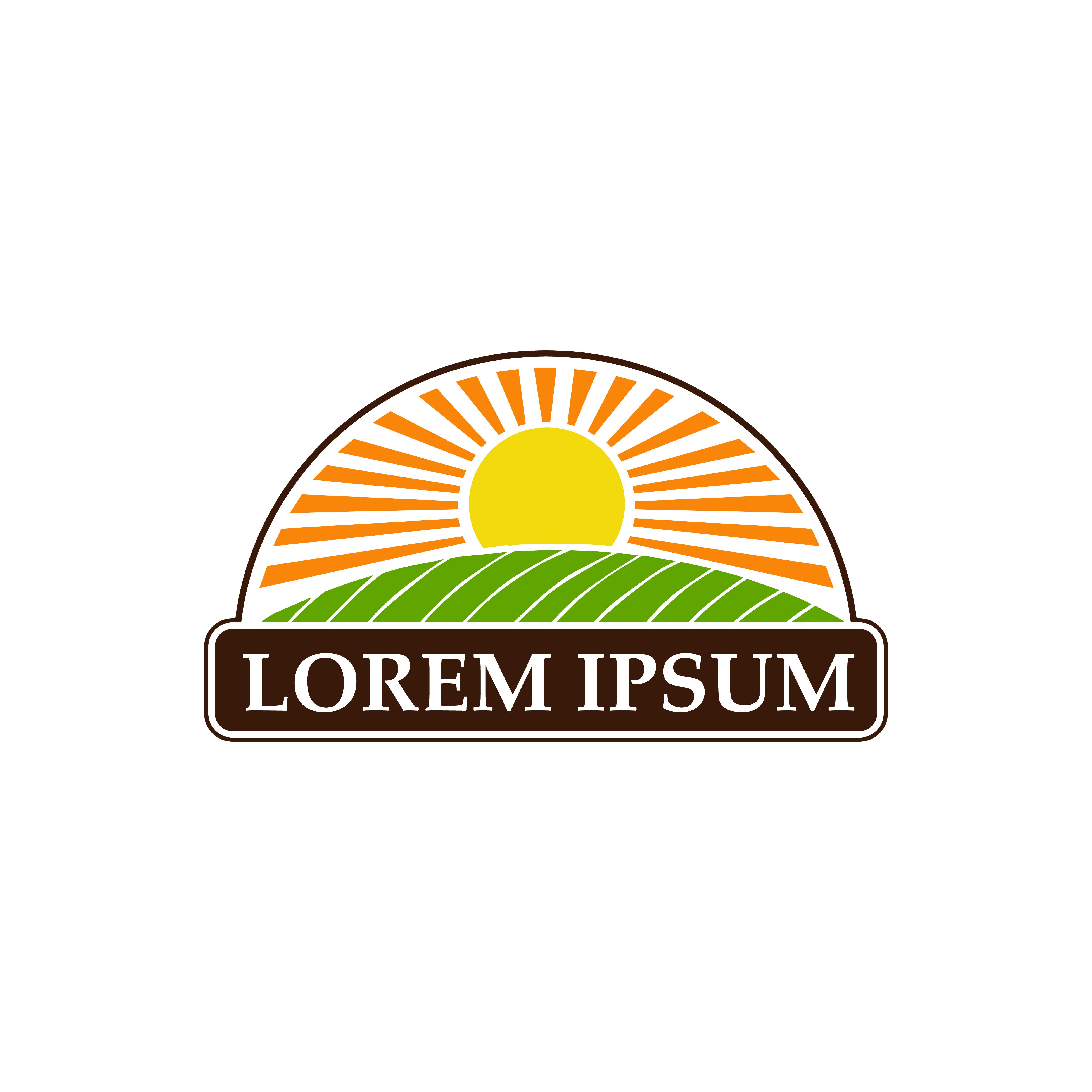 organic landscape logo design concept template - Download ...