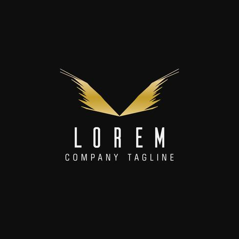 luxury abstract wings logo. technology design concept template