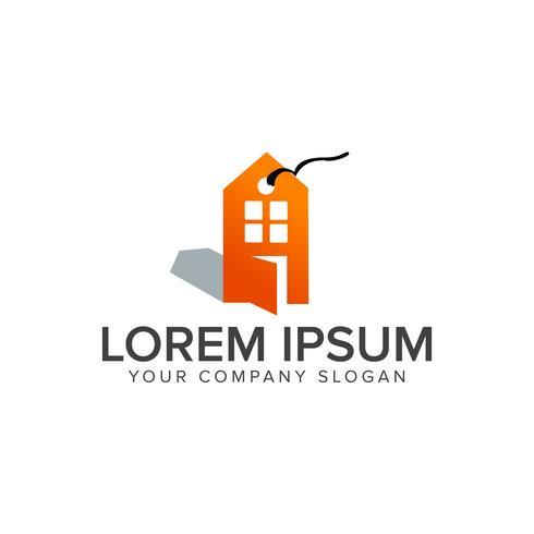 Plantilla de concepto de diseño de logotipo de venta de etiqueta inmobiliaria vector