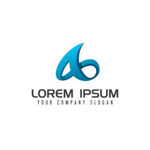 Modern letter A technology Logo design concept template vector