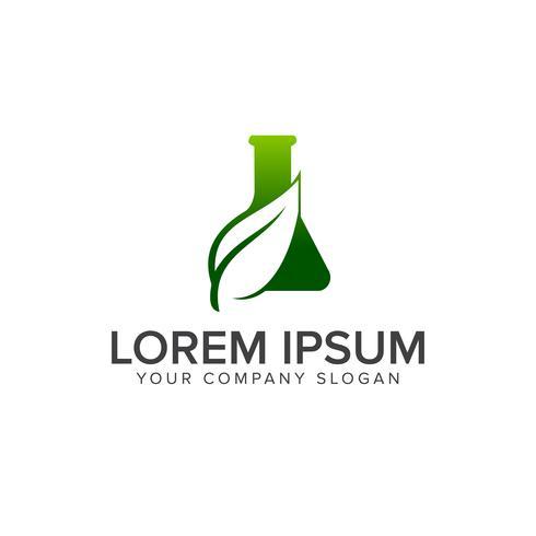 modèle de concept de laboratoire lab logo vert