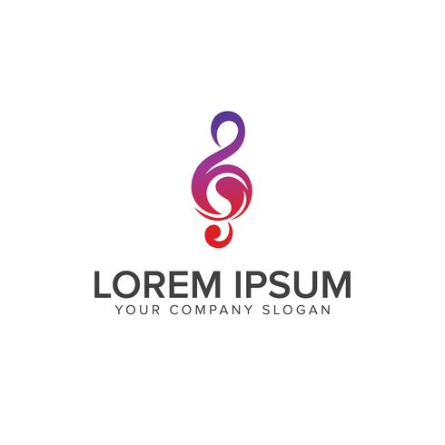 Muziektonen logo ontwerpsjabloon concept