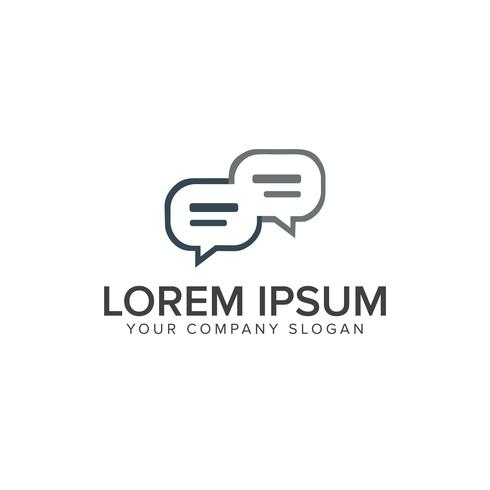 Plantilla de concepto de diseño de logotipo de comentario