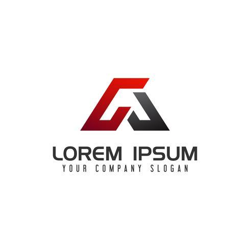 letra A Logo. modelo de conceito de design de auto