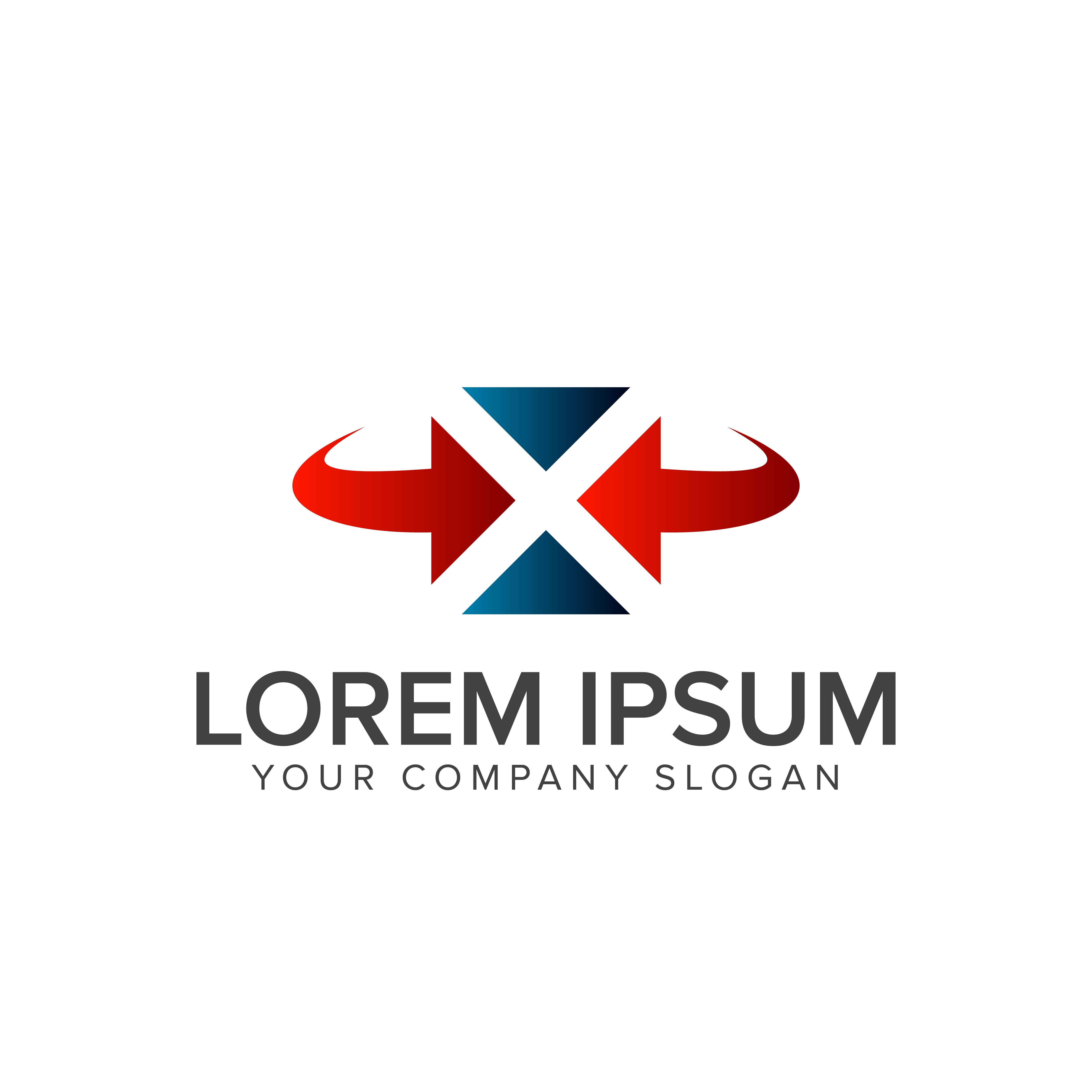 Letter X Logo . Square Logo Design Concept Template 610746
