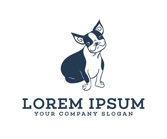 Tuttavia, il suo logo. modello di concetto di design del logo del cane