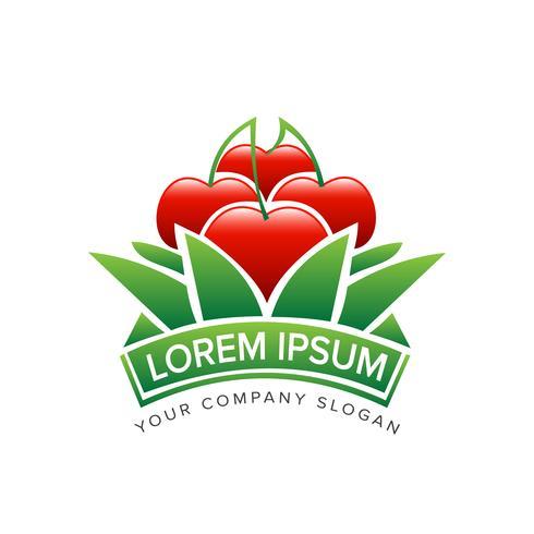 Apple trädgårdsdesign Logo design koncept mall