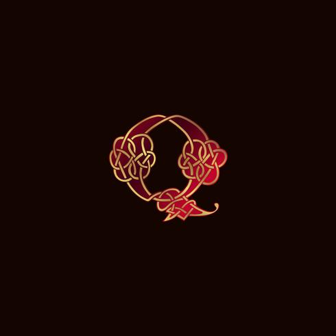 luxury letter Q Decoration Logo design concept template vector