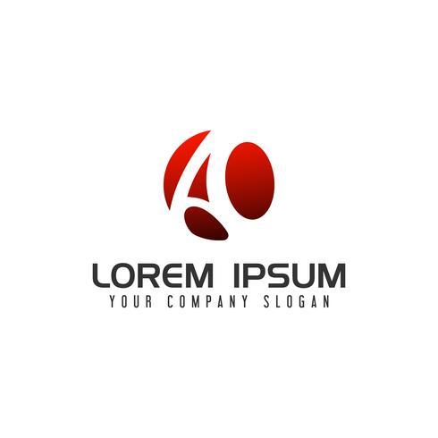 letter A circle Logo. design concept template vector